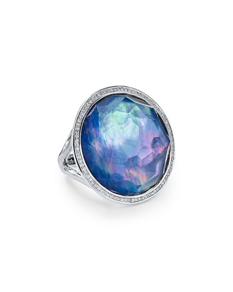 Ippolita Stella Large Lollipop Ring in Doublet with Diamonds, 0.32