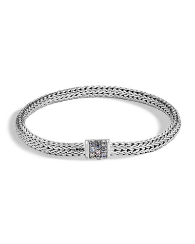 Classic Chain Extra Small Pave Pusher Clasp Bracelet