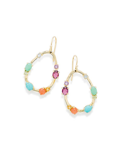 18K Rock Candy® Medium Frame Earrings in Rainbow