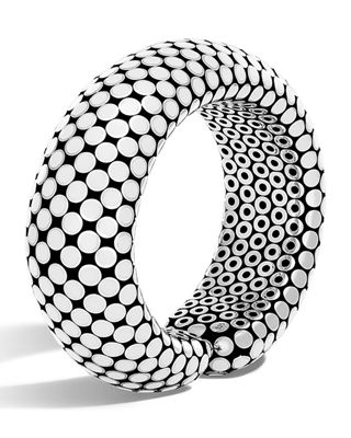 Dot Medium Sterling Silver Flex Cuff Bracelet