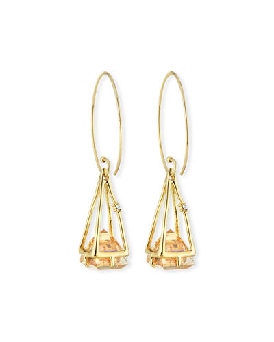 Floating Crystal Wire Drop Earrings