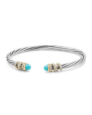 David Yurman 4mm Helena Cabochon Tip Bracelet with