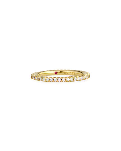 Micro Pavé Diamond Eternity Band in 18K Gold