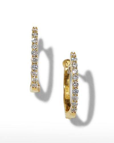 Baby Hoop Diamond Earrings