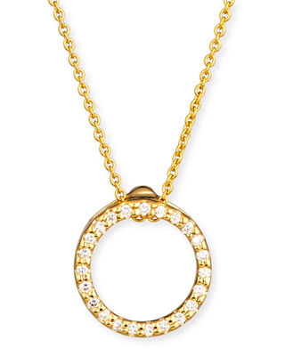 Image 1 of 2: Tiny Treasure Circle of Life Necklace with Diamonds