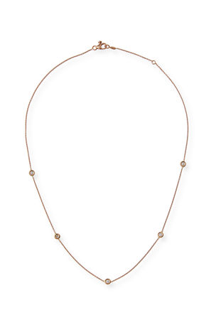 Roberto Coin 18k Gold Diamond Station Necklace