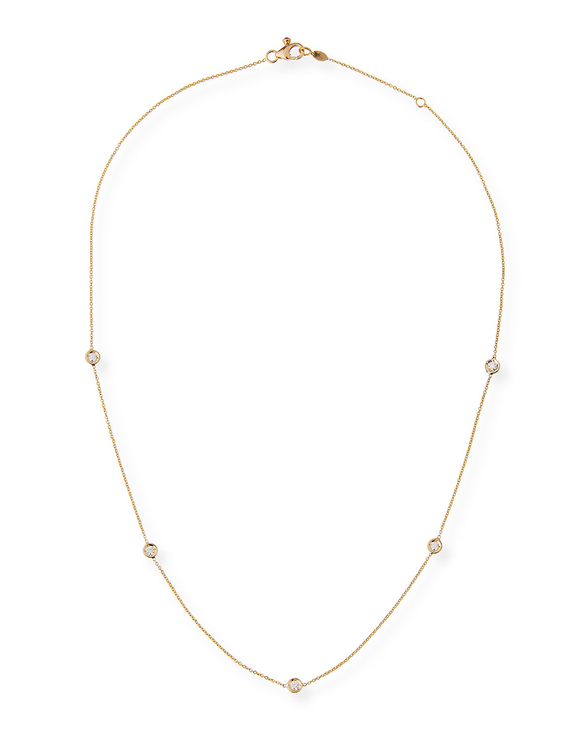 309a2a580 Roberto Coin 18k Gold Diamond Station Necklace | Neiman Marcus