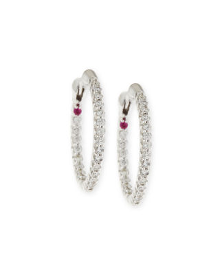 XS Pave Diamond Hoop Earrings
