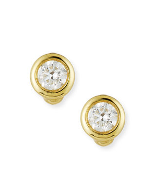 Image 1 of 2: 18k Gold Diamond Stud Earrings