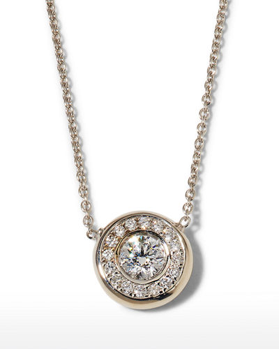Roberto Coin 18k Gold Pave Diamond Pendant Necklace