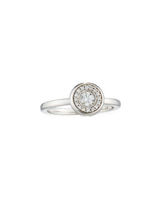Image 1 of 2: 18k Gold Pave Diamond Ring