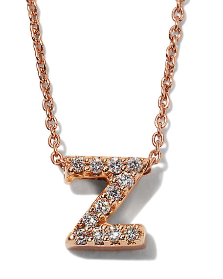 Roberto Coin Diamond Love Letter Necklace