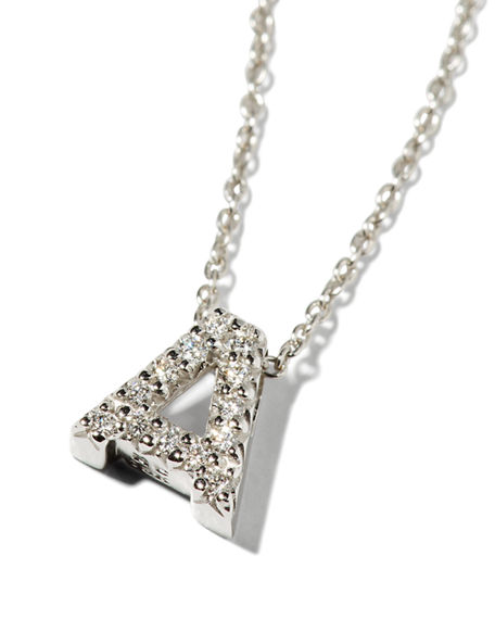 Image 1 of 6: Diamond Love Letter Necklace