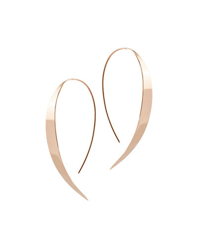 Bond Small Vanity Hooked on Hoop Earrings in 14K Rose Gold