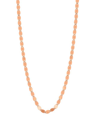 """Mega Nude Long Chain Necklace, 30"""""""