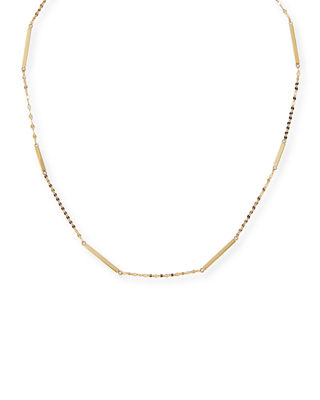 Lana Jewelry 14K Gold Short Bar Station Necklace QXzHlE