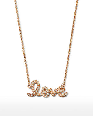 Image 1 of 4: Gold Diamond Love Necklace, Small