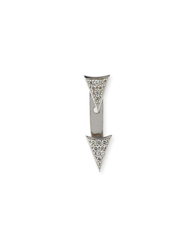 Single Earring with Diamond Triangle & Ear Jacket