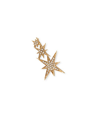 Sydney Evan 14K Rose Gold Triple Diamond Starburst