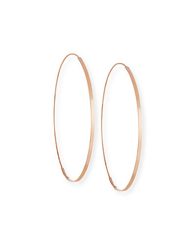 LANA Flat Magic 14K Hoop Earrings