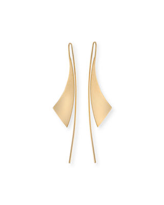 Image 1 of 2: Small Gloss 14K Gold Hoop Earrings