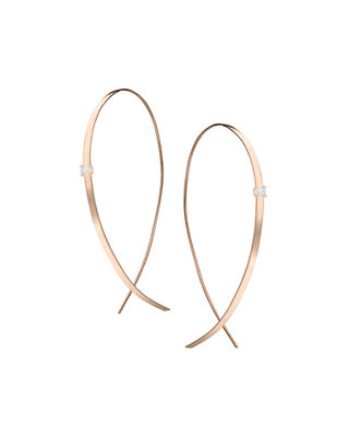 Lana Jewelry Large Solo Upside Down Diamond Hoop Earrings