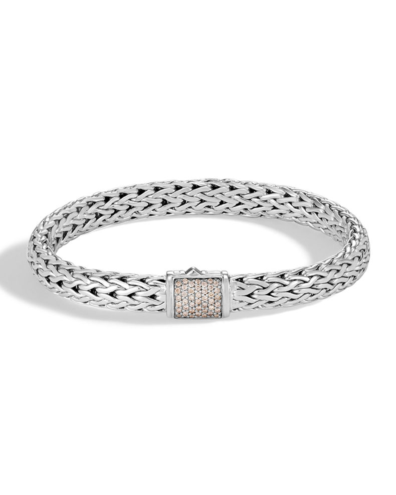 John Hardy Diamond Pave Medium Chain Bracelet