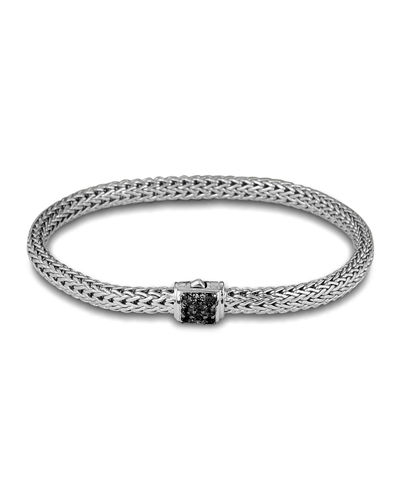 Extra Small Chain Bracelet w/ Pave Clasp