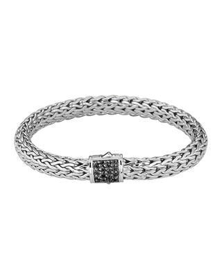 Medium Chain Bracelet with Pave Clasp