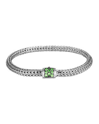 Classic Chain Extra Small Pave-Clasp Bracelet