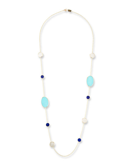 Image 1 of 3: Ippolita 18k Polished Rock Candy Turquoise Station Necklace