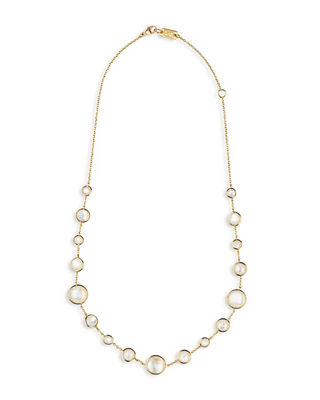 18k Gold Rock Candy Lollitini Necklace 16-18""