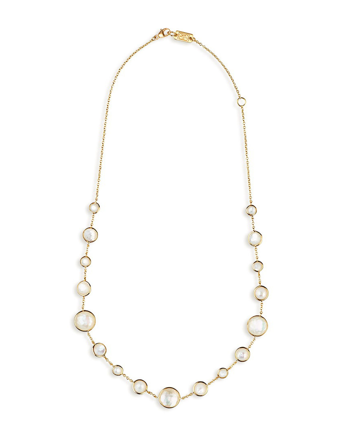 """18k Gold Rock Candy Lollitini Necklace 16-18"""""""