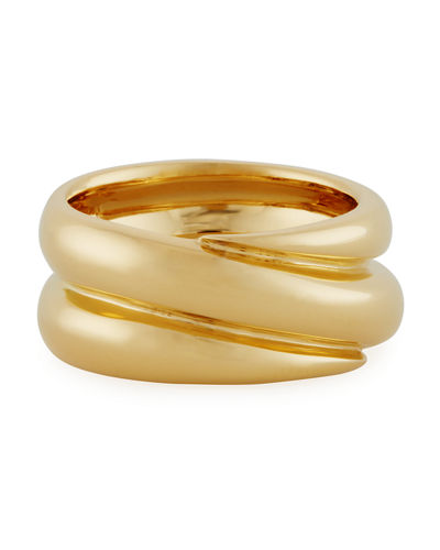 Double Band Ring in 18K Gold