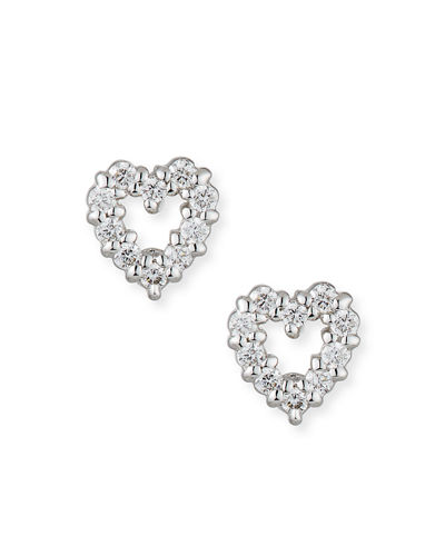 Baby Heart Earrings with Diamonds