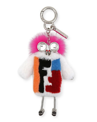 Fendi Teen Witch Mink/Rabbit Fur Charm for Handbag BJAaN