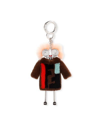 Fendi Teen Witch Mink/Rabbit Fur Charm for Handbag