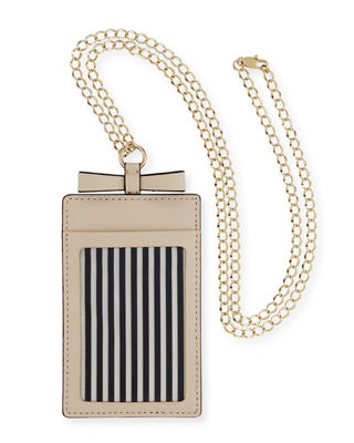 kate spade new york cameron street leather lanyard luggage tag