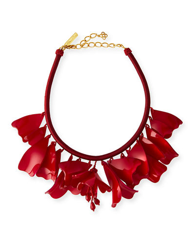 Oscar de la Renta Impatiens Rope Necklace, 16