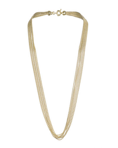 Eddie Borgo Ball Chain Fountain Necklace