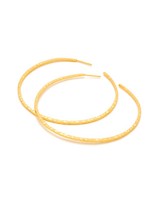 Taner XL Hoop Earrings in Metallic Gold Gorjana