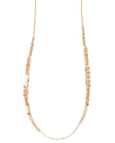 Nude Disc Fringe Long Necklace, 30""