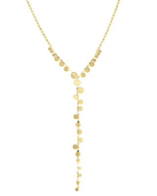 Multi-Disc Y Lariat Necklace, 20""