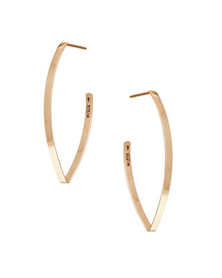 Lana Small Flat Blake Hoop Earrings