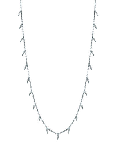 Pave Diamond Fringe Drop Necklace
