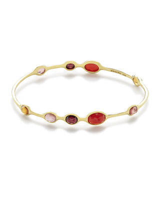Ippolita 18k Gold Rock Candy 9-Station Bangle El6ubl