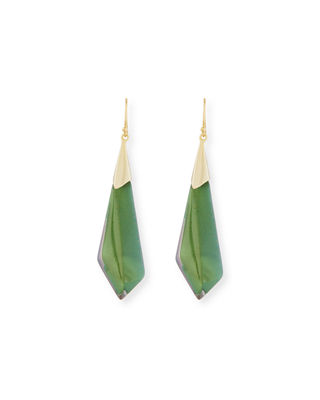 Image 1 of 2: Faceted Wire Drop Earrings