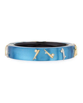 Thorn-Stud Lucite Bangle Bracelet