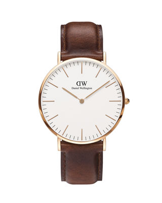 Classic St. Andrews Watch, 40Mm in Rose Gold