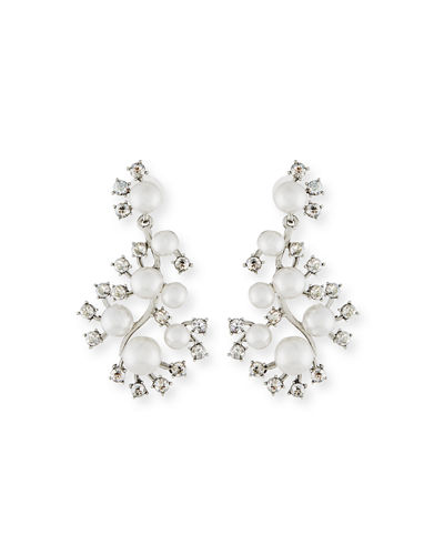 Pearly Crystal Statement Earrings